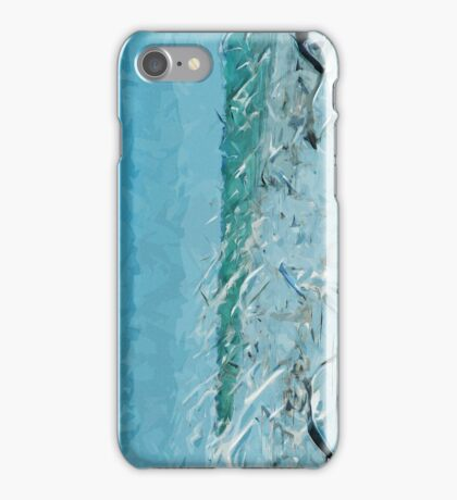 Flying Swirls of Gulls and Terns Abstract Impressionism iPhone Case/Skin