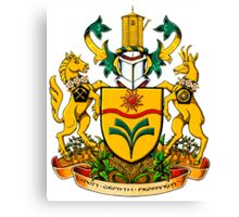 Town of Taber Coat of Arms Canvas Print