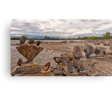 River sculptures Metal Print