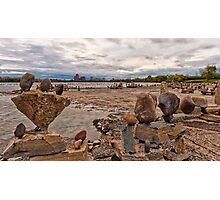 River sculptures Photographic Print