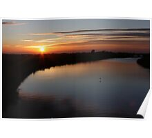 Norfolk Sunset on the Broads Poster