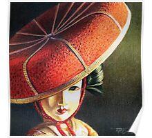 Geisha Doll Still Life Poster