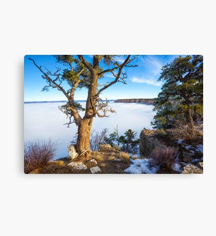 Rare grand Canyon puffy fog Canvas Print