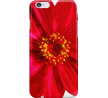 Red Daisy Flower Abstract Impressionism iPhone Case/Skin