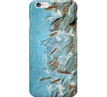 White Pelicans and Friend Abstract Impressionism iPhone Case/Skin