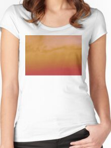 sunset experiment - 3 Women's Fitted Scoop T-Shirt