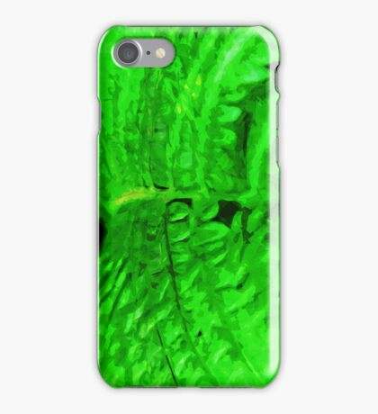 Green Fern Abstract Impressionism iPhone Case/Skin