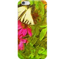 Eastern Tiger Swallowtail Butterfly Abstract Impressionism iPhone Case/Skin