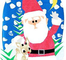 Santa and Rudolph by Jessica Slater