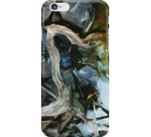Driftwood on River Rocks Abstract Impressionism iPhone Case/Skin