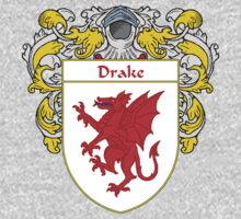 Drake Coat of Arms/Family Crest Kids Tee