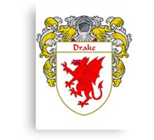 Drake Coat of Arms/Family Crest Canvas Print