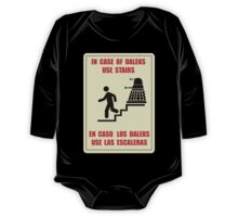 In Case of Daleks Use Stairs One Piece - Long Sleeve