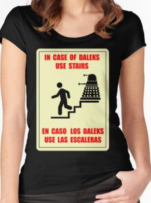 In Case of Daleks Use Stairs Women's Fitted Scoop T-Shirt