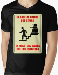 In Case of Daleks Use Stairs Mens V-Neck T-Shirt