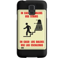 In Case of Daleks Use Stairs Samsung Galaxy Case/Skin