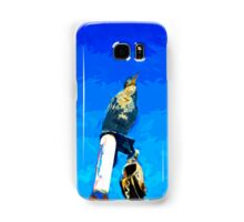 Double Crested Cormorant on Mast Abstract Impressionism Samsung Galaxy Case/Skin