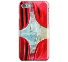 Vintage Red Dodge Truck Abstract Impressionism iPhone Case/Skin