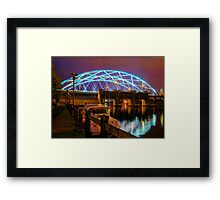 Bridging the night Framed Print