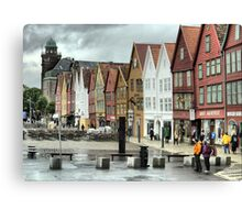 Bergen Harbour (3) Canvas Print