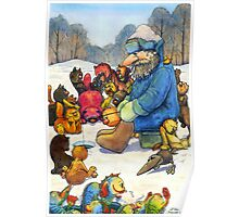 Winter fishing Poster