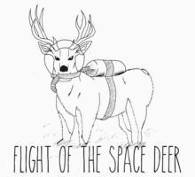 Flight of the Space Deer  Kids Tee