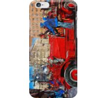 Parading Antique Fire Truck Abstract Impressionism iPhone Case/Skin
