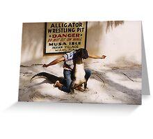 Aligator Wrestling Greeting Card
