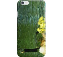 Mother Goose and Goslings Abstract Impressionism iPhone Case/Skin