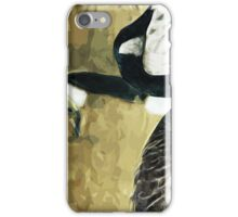 Canada Geese on Water Abstract Impressionism iPhone Case/Skin