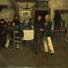 Meeting between Giuseppe Garibaldi and Giovanni Battista Cuneo in Taganrog, on the Black Sea by Bridgeman Art Library
