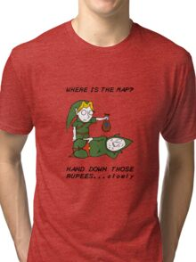 Where is the Map Tingle ? Tri-blend T-Shirt