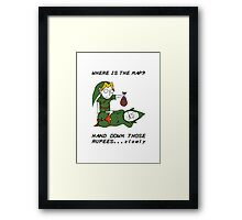 Where is the Map Tingle ? Framed Print