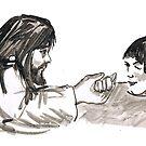 Jesus and Jarius' Daughter by Seth  Weaver