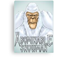 The Abominable Snowman Canvas Print
