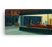 Art Giraffe- Nighthawks Canvas Print