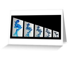 Blue Diminished Greeting Card