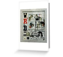 White, Red and Black. Greeting Card