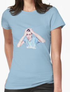Conscience (self-portrait) Womens Fitted T-Shirt