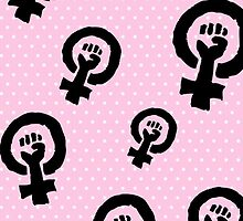 Feminist fist Iphone case by jennylmcdonald