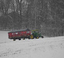 The Holiday Tractor by rosaliemcm