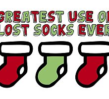 Holiday Humor - Greatest use of lost socks ever (christmas stockings) by ginpix