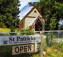 St Patricks near Lake Tekapo NZ by Doug Cliff