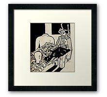 Machine man Framed Print