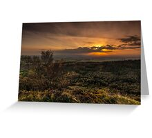 Sutton Sunset North Yorkshire Greeting Card