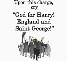 Shakespeare - Henry V - upon this charge, - light Unisex T-Shirt