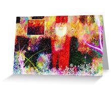 Abstract Santa Claus - greeting card Greeting Card