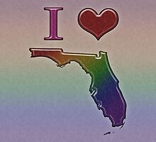 I Heart Florida Rainbow Map - LGBT Equality by LiveLoudGraphic