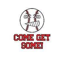 "Cartoon Baseball ""Come Get Some!"" Photographic Print"