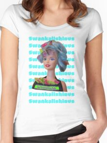 Swankalishious Babe Women's Fitted Scoop T-Shirt